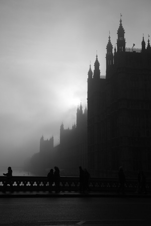 Houses of Parliament fog