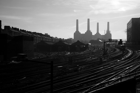 Battersea Power railway tracks