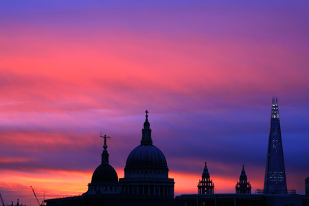 St Paul's and Shard sunrise