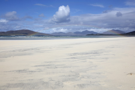 Luskentyre rainbow, Isle of Harris, Outer Hebrides