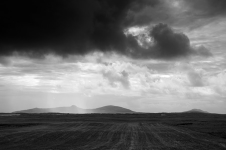 Rain shower on North Uist, Outer Hebrides